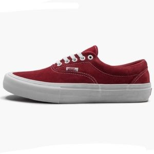 Vans Era Pro Suede Red Sneakers Shoes Mens 11.5